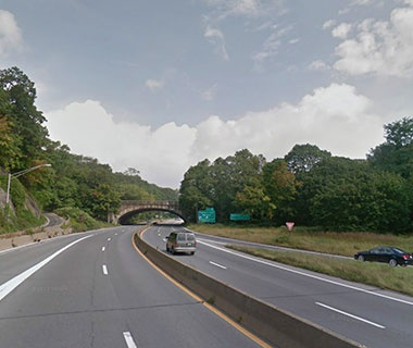 No. 5 NY Route 987D (Saw Mill River Parkway) over NY Route 907K (Cross County Parkway), Yonkers, NY