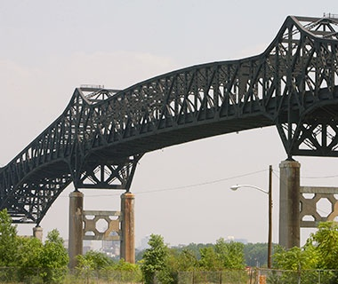 No. 2 (tie) U.S. Route 1/9 over Hackensack River (Pulaski Skyway), South Kearny/Jersey City, NJ