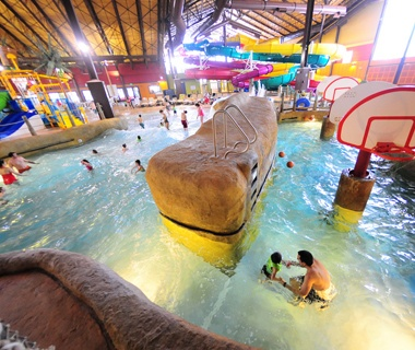 indoor water park in red jacket mountain view resort in nh