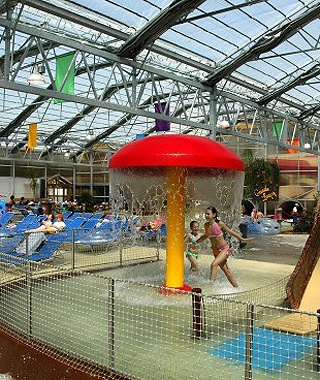 children playing at Schlitterbahn Indoor Water Park in Galveston, TX