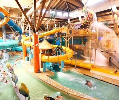 water slide at Splash Lagoon Indoor Water Park in Erie, PA