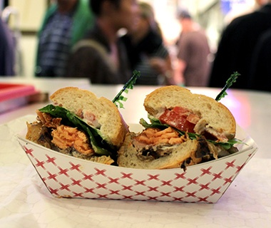 Market Grill, Seattle: Blackened Salmon Sandwich