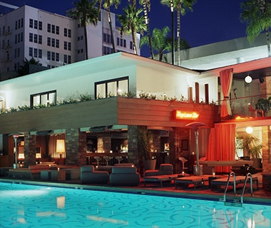 Hollywood Roosevelt Hotel Pool and Tropicana Bar