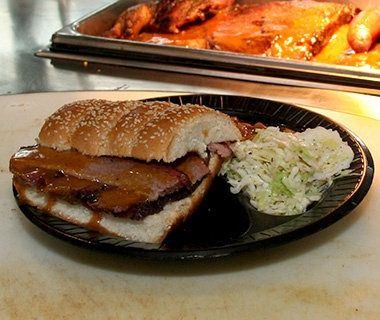 The Salt Lick, Driftwood, TX: Brisket Sandwich