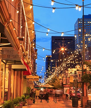 street lights hanging in Denver, CO