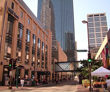 downtown Minneapolis/St. Paul, MN