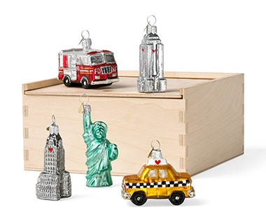 Little New York Ornament Set