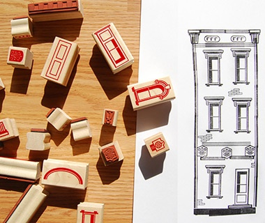 Paper Neighborhood Stamp Set