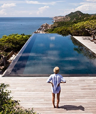 infinity pool at Vinh Hy Bay, Vietnam