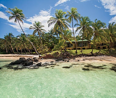 vacation beach house on Little Corn Island, Nicaragua