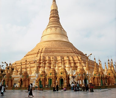 gold temples in Burma