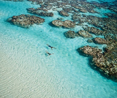 clear waters at Brando beach resort in Tetiaroa, French Polynesia