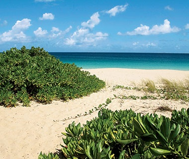 scenic beach in Meads Bay, Anguilla
