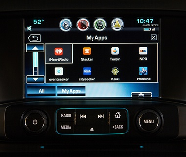 Chevrolet AppShop in-car app service