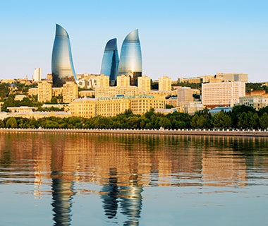 Next-Gen Business Hotel: Fairmont Baku, Flame Towers, Azerbaijan