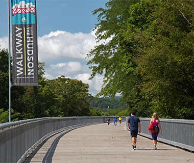Longest Pedestrian Bridge in North America: Walkway Over the Hudson, Poughkeepsie, NY