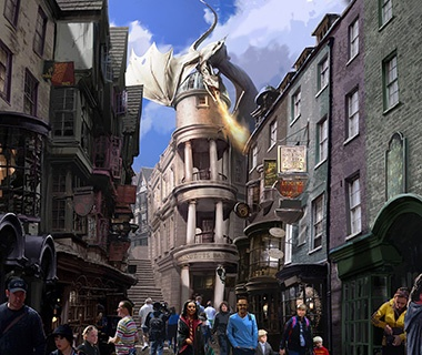 Diagon Alley at the Wizarding World of Harry Potter, Universal Orlando, Florida