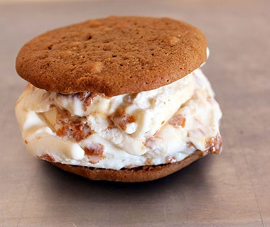 The Chicken & Waffle Ice Cream Sandwich: Coolhaus Ice Cream Trucks