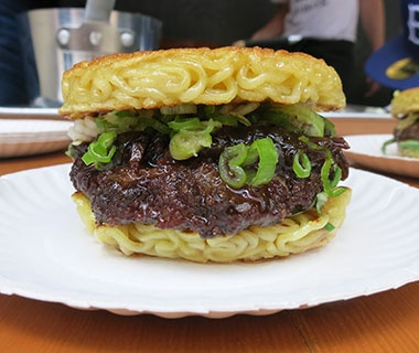 The Ramen Burger: Smorgasburg, Brooklyn, NY