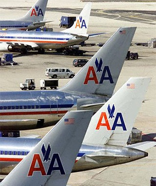 American Airlines airplanes at the airport