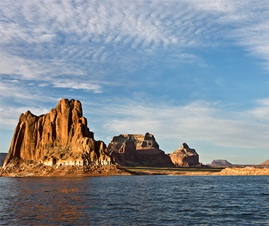 rocky cliffs at Lake Powell, UT/AZ