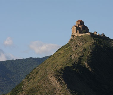 castle on top of a mountain in Georgia