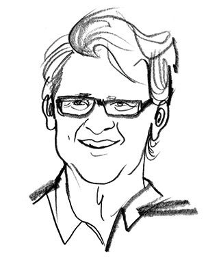 sketch of Michael Lorentz, Partner and CEO of Passage to Africa tour company