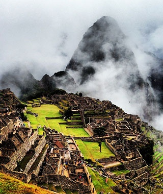 machu picchu in the clouds in Peru