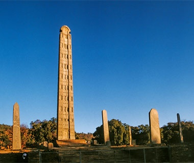 Ancient ruins from Fourth Century A.D. in Ethiopia