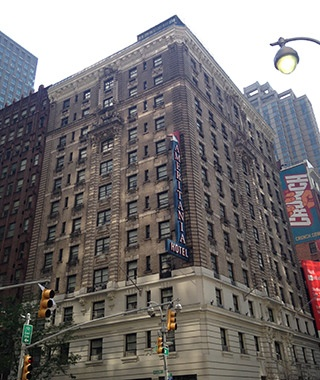 street view of the Ameritania Hotel in New York City, NY