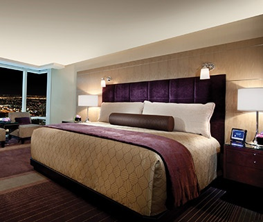 guest room at the Aria Resort & Casino, Las Vegas