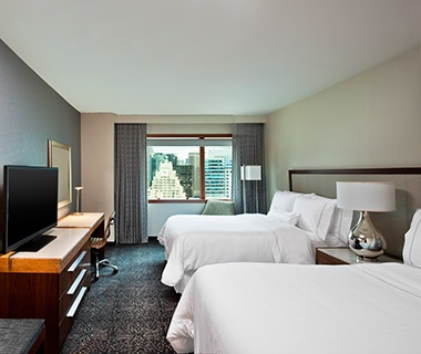 guest beds at The Westin New York Times Square, NYC