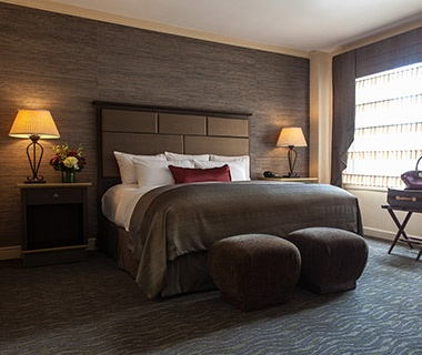 guest beds at the whitehall hotel in chicago il