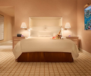 guest bed at the wynn las vegas nv