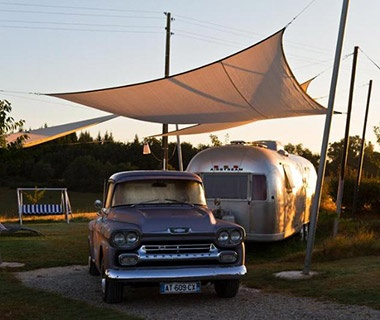 Retro Camping in Vintage Airstreams, Mirepoix, France