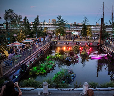 The Blue Anchor at Spruce Street Harbor Park, Philadelphia