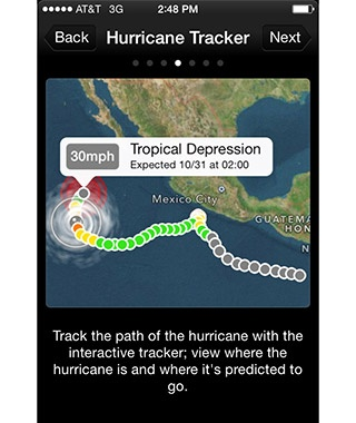 The Red Cross Hurricane App