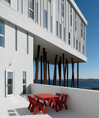 Fogo Inn vacation rental on a lake