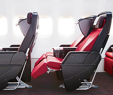 updated cabin seating in airplane