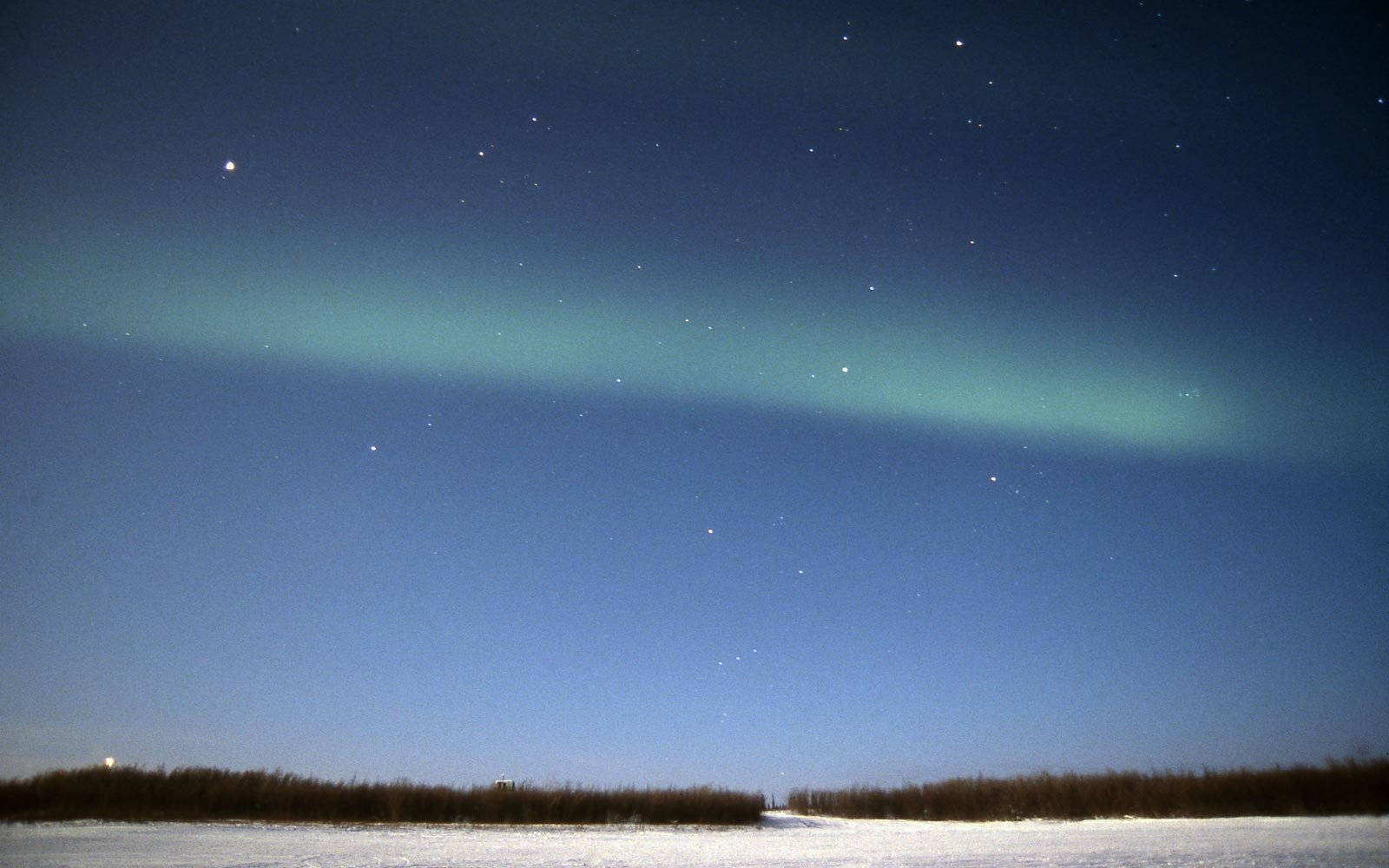 Aurora borealis seen from Inuvik, in Canada's northern territory