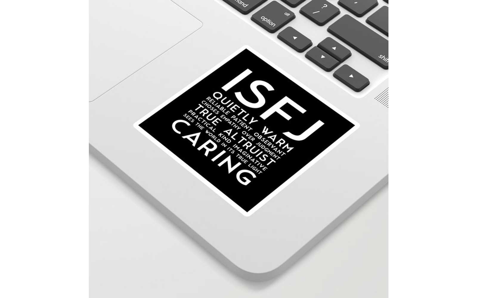 ISFJ Black Sticker