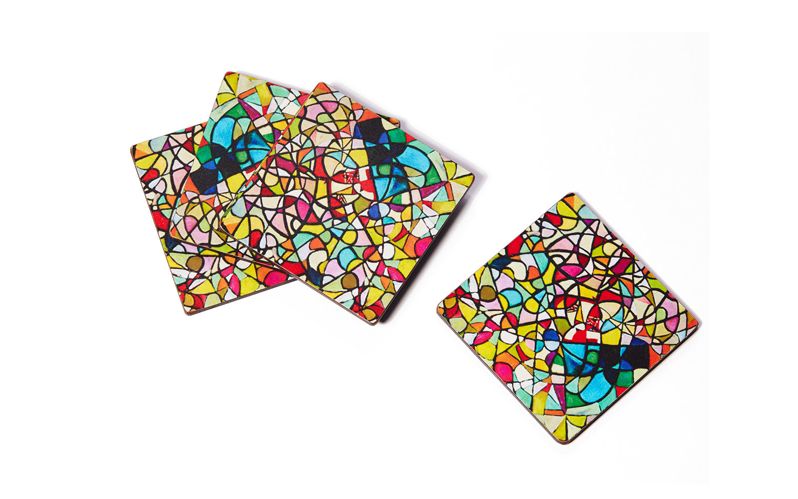 patterned coasters from Istanbul Museum of Modern Art