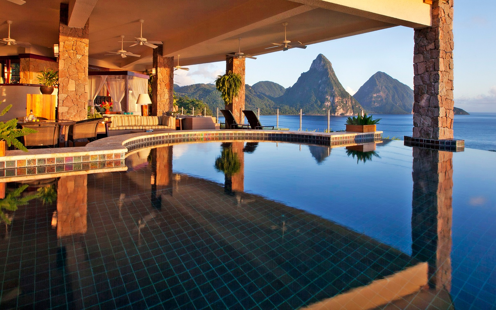 Infinity Pool At Jade Mountain Resort St Lucia