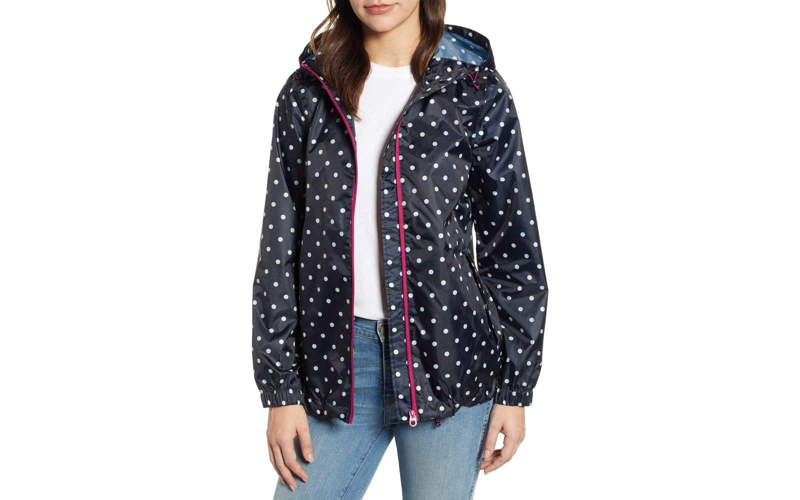 joules packable rain jacket