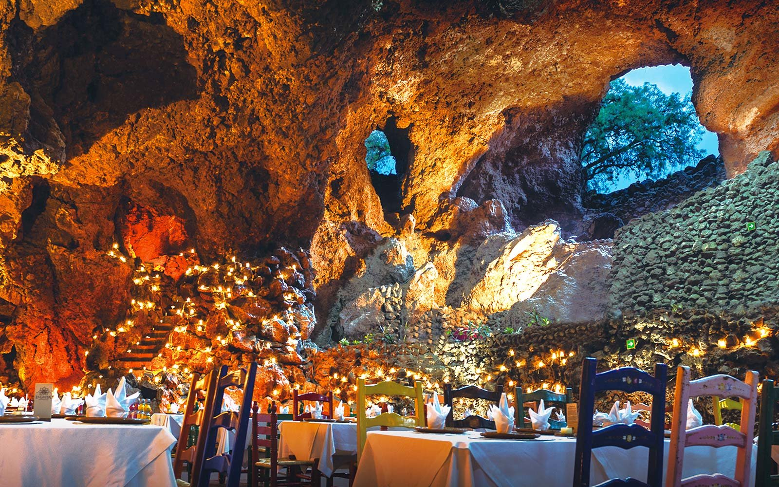 La Gruta Restaurant east of the Teotihuacan pyramids Mexico City Mexico Central America Cave