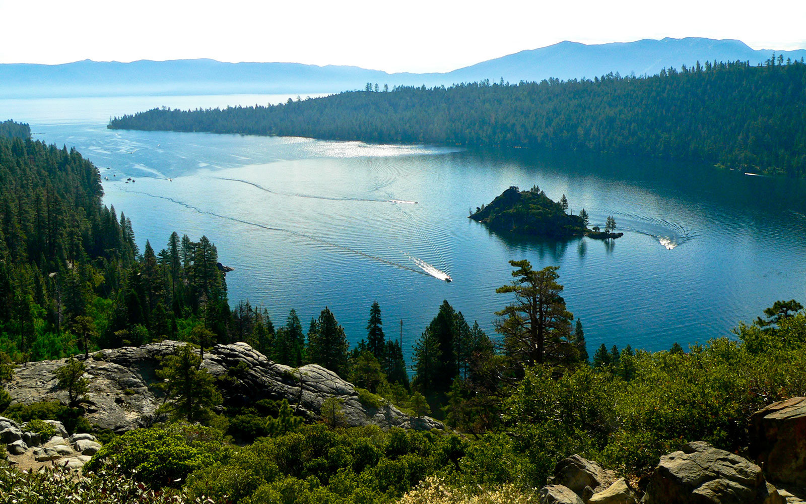 An overview of Lake Tahoe.