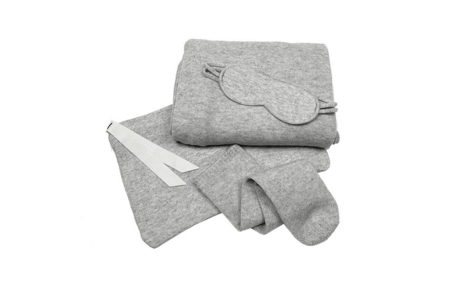 Luxury cashmere travel set