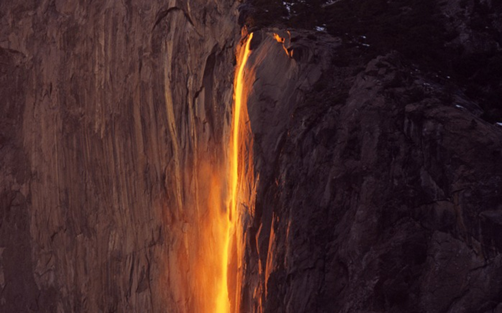 Fire Falls  in California's Yosemite National Park