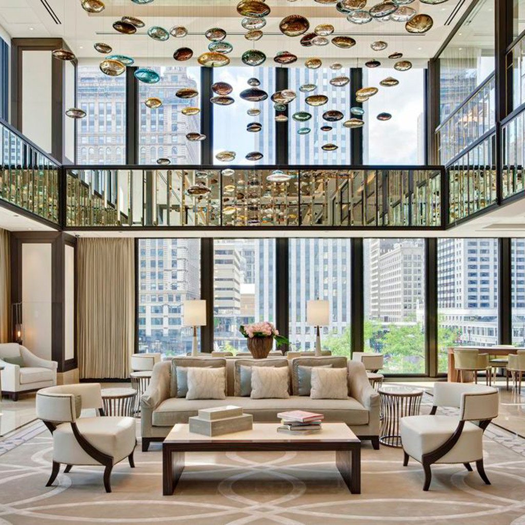 Best luxury hotels in chicago travel leisure for Top luxury boutique hotels