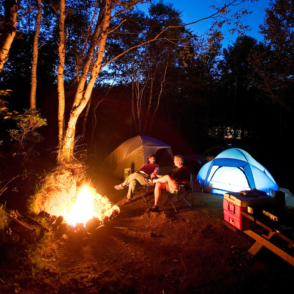 Best places to camp in maine travel leisure for Famous public places